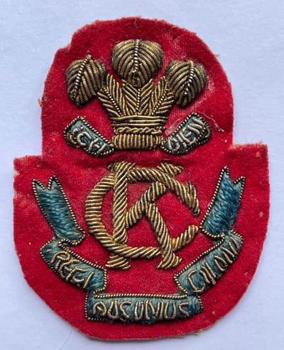 Second Pattern Regimental Officer's Emroidered Headdress Badge