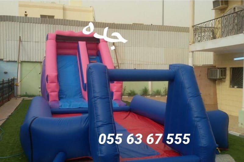 زحليقة البرج مع ملعب صابوني 16م*5م (السعر 900 ريال)