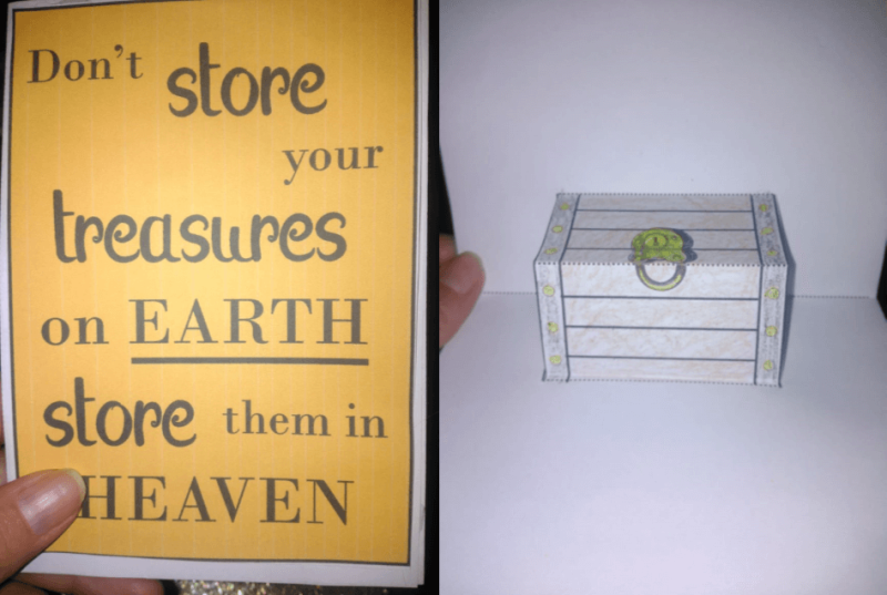 Treasures in Heaven Popup Card