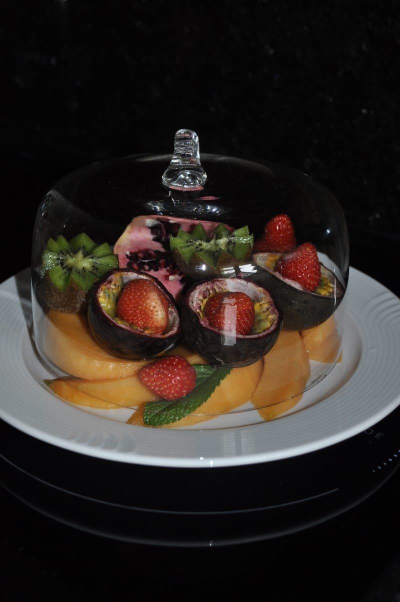 Les assiettes de fruits de saison.