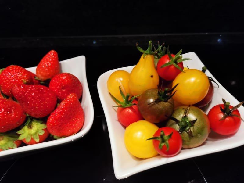 En saison, les fruits frais du jardin...