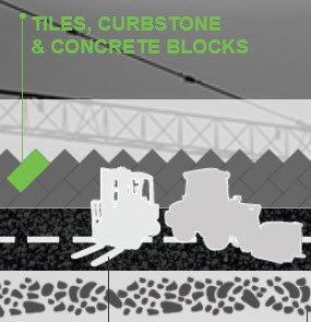 TILES, CURBSTONE & CONCRETE BLOCKS