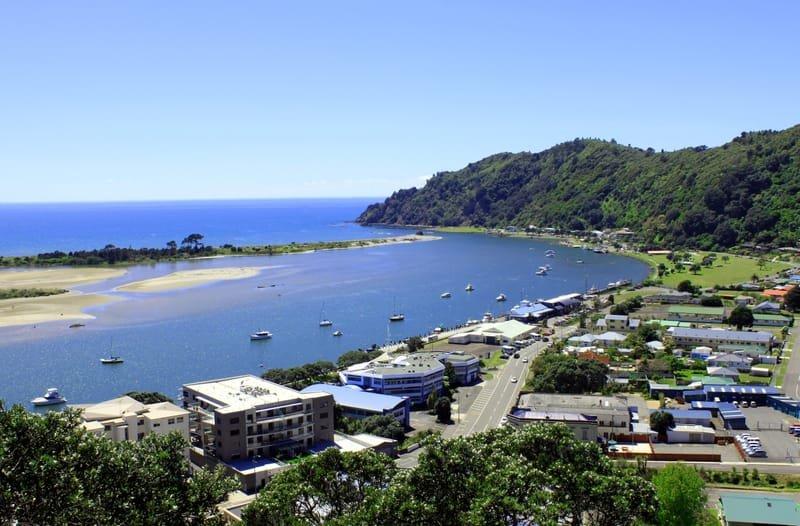 Laid-back coastal town
