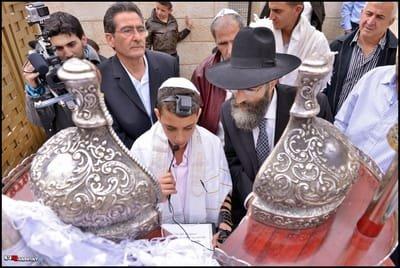 מתחמים לטקס עליה לתורה ברובע היהודי ובכותל