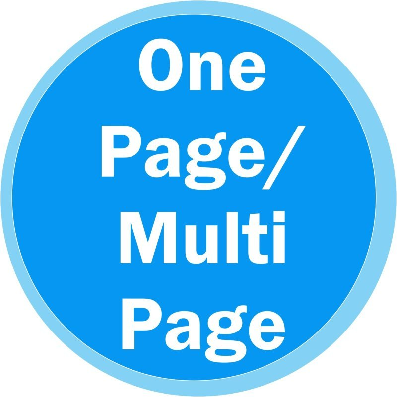 One Page / Multi-Page