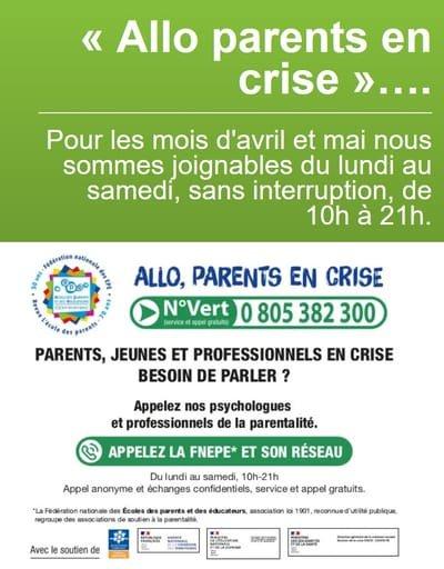 Un numéro vert pour les parents pendant le confinement