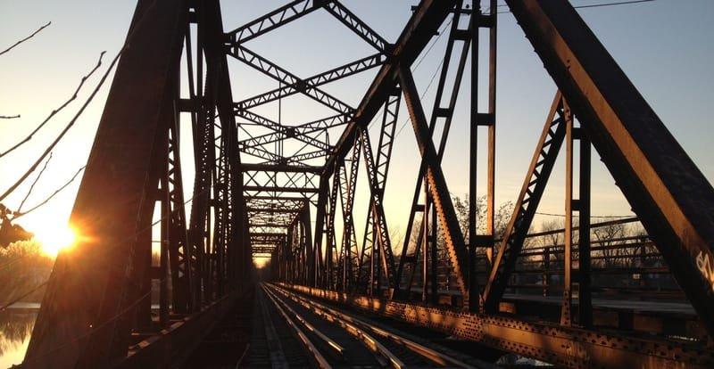 Le pont de train