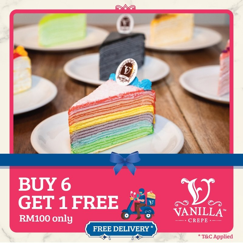 Buy 6 Slices Free 1 for RM100