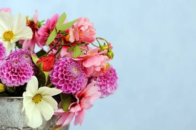 Tips when creating a bouquet of flowers