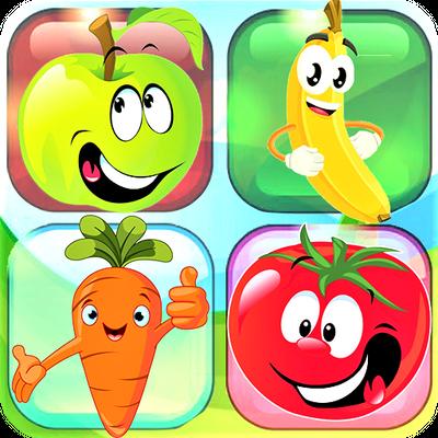 Jeu de mémoire - Match de cartes puzzle (Fruits)