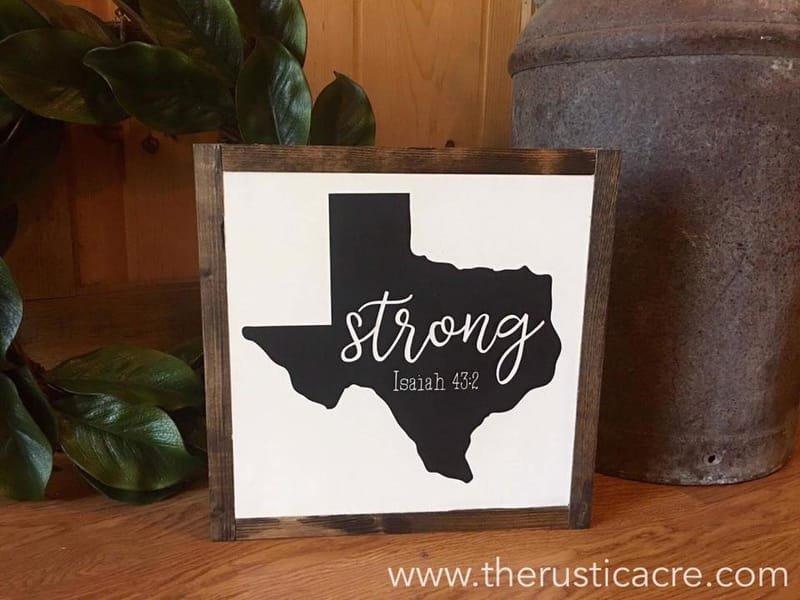 Texas Strong Sign