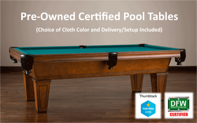 Certified Pre-owned Pool Tables