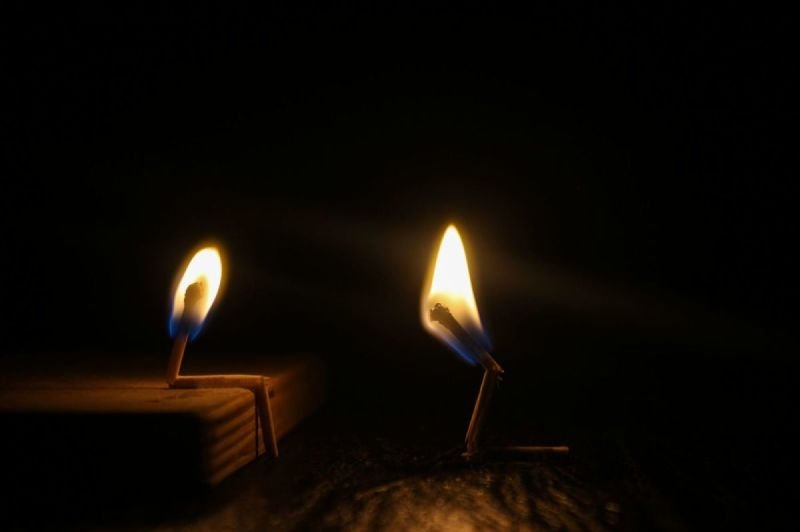 a candle of sulfur