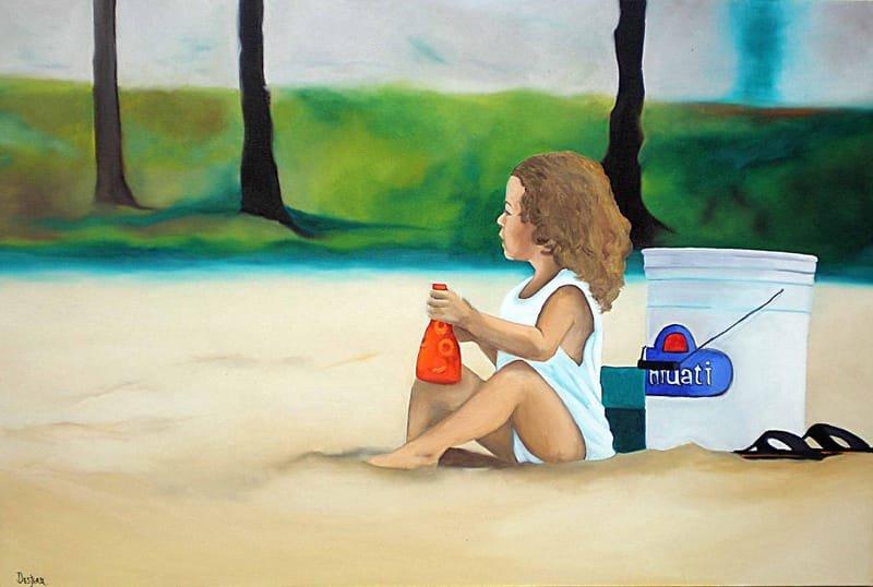 Fillette à la plage