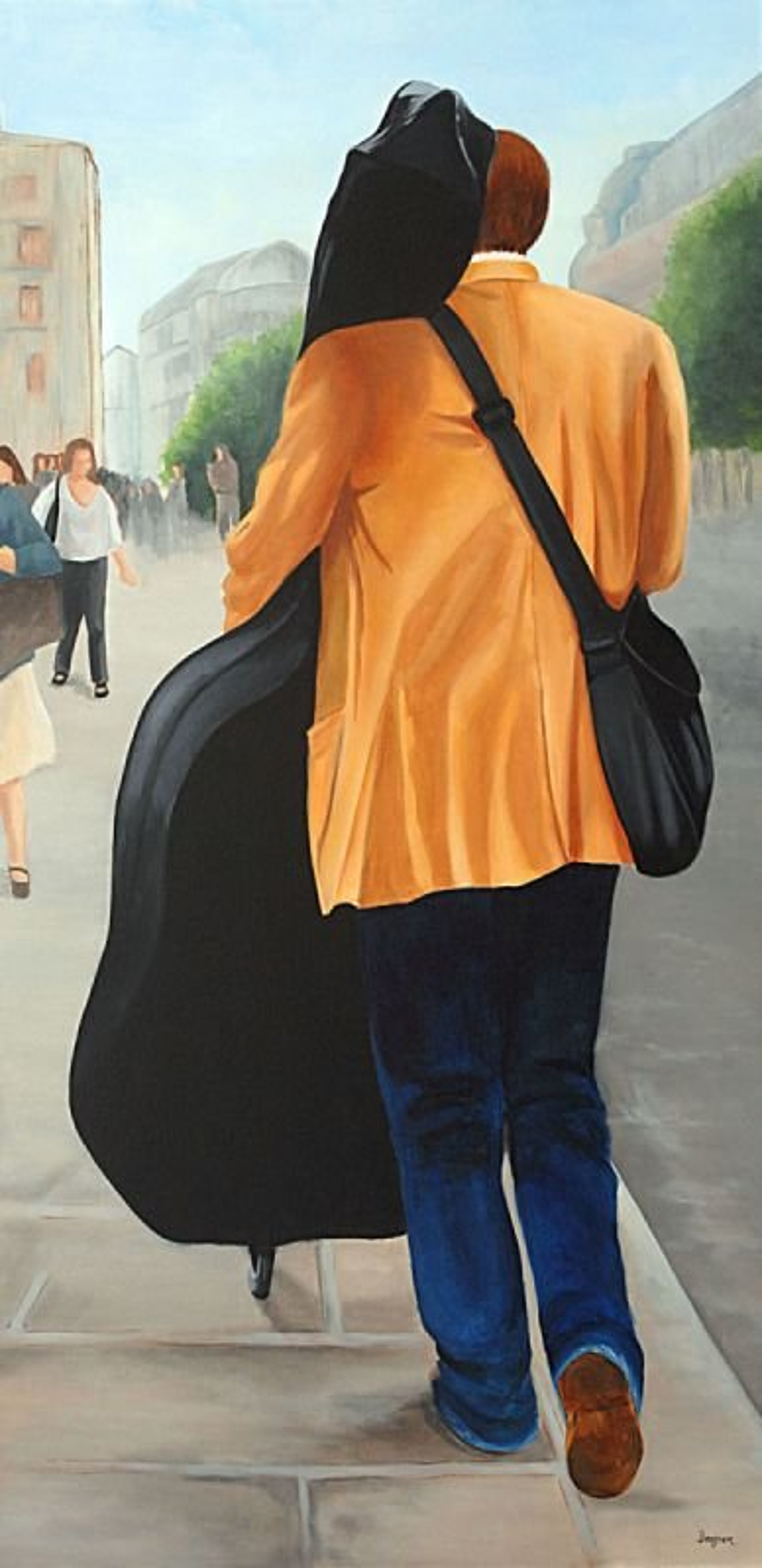 Musicien dans les rues de Paris