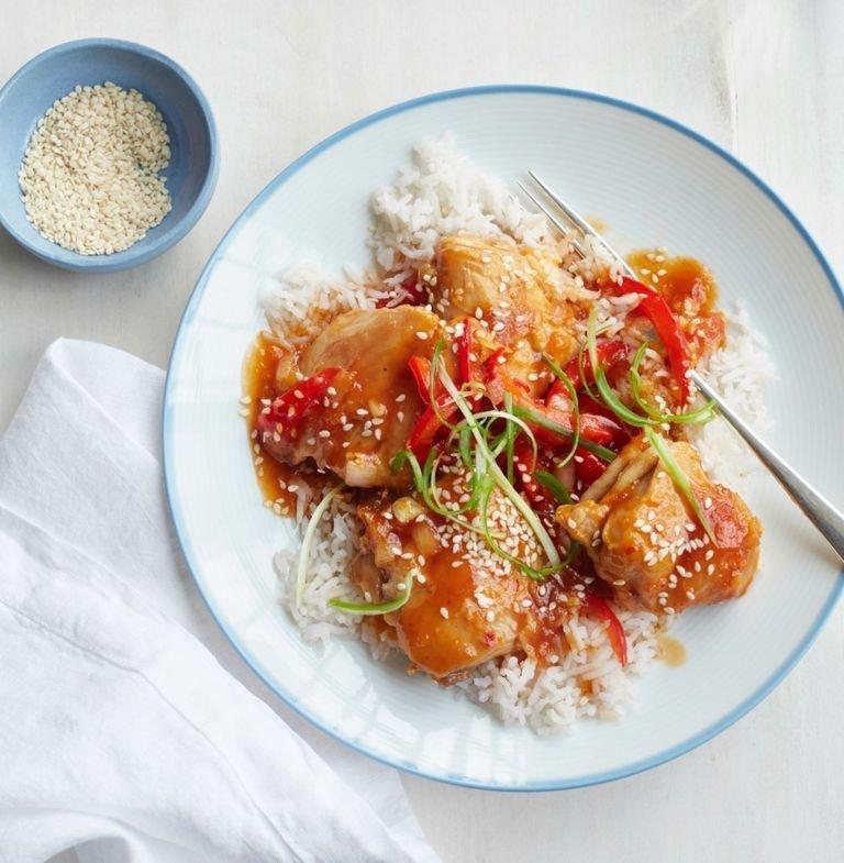 Sesame Chicken Over Rice